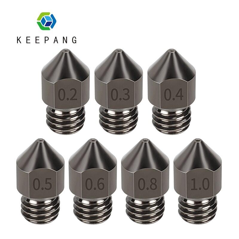 KeePang MK7 MK8 сопло супер жесткая стальная Форма сталь коррозионностойкая экструдер Резьбовая 1,75 мм сопла Экструзионная часть