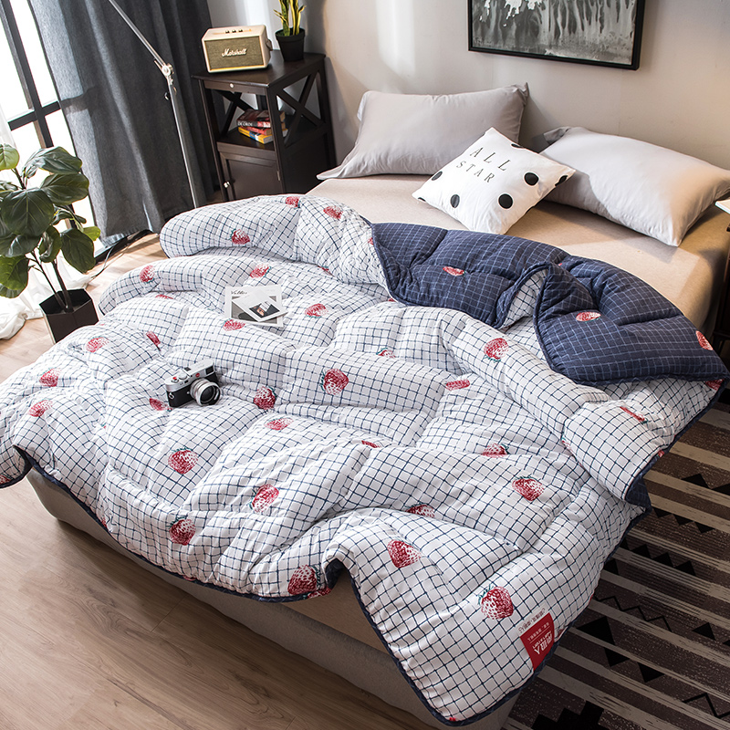 CF2 Hot Sales Winter Thick Blanket New Style Embroidered Fabric Comforter 100% Cotton Filling Quilted King Queen Full Size Quilt