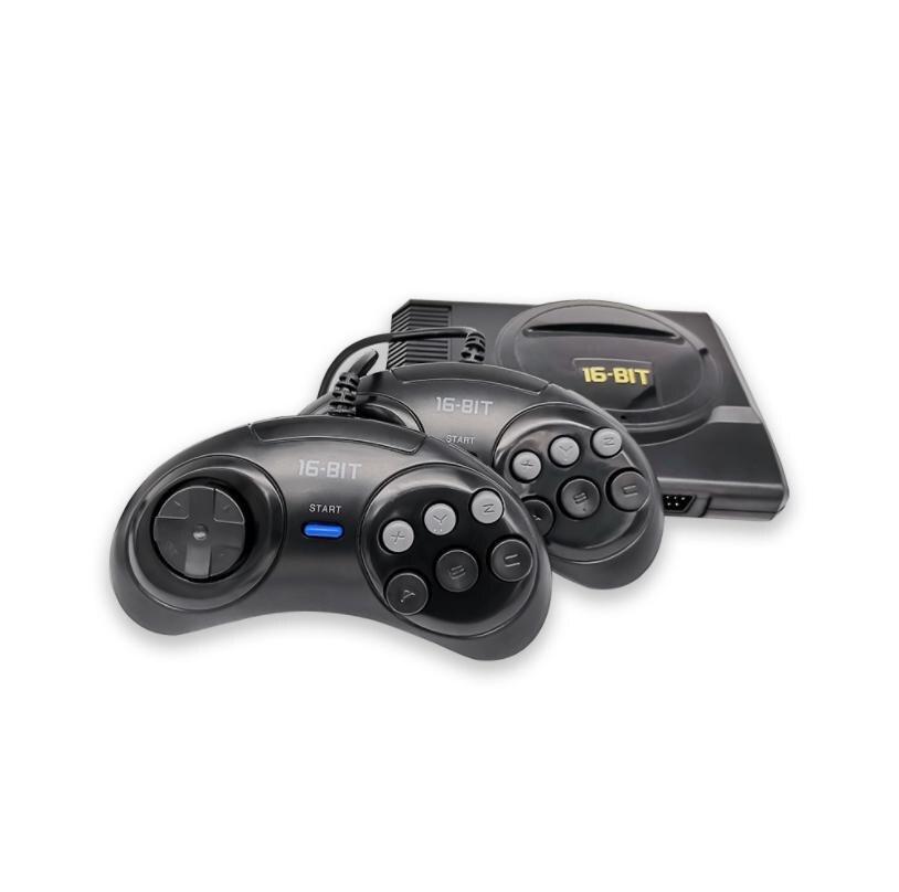 Новый супер мини 16 бит видео игры консоли классические встроенные игры 208 домашней игре 2G памяти консоли с проводом геймпад для игры МД