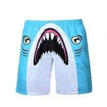 Men Printed Beach Shorts Quick Dry Running Swimwear Swimsuit Swim Trunks Beachwear Sports Board Plus Size