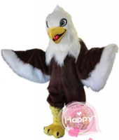 Long Fur Eagle Mascot Costume Suits Cosplay Party Game Dress Outfits Clothing Advertising Promotion Carnival Halloween Adults