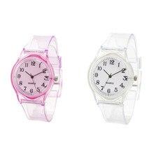1 шт. детские часы повседневные прозрачные часы желеобразные детские часы для мальчиков наручные часы для девочек часы XYR