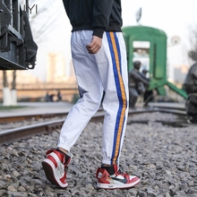 SRDP Side Striped Casual White Overalls Pants Men Autumn Fashion Pencil Sport Trousers Male Student Off Pockets New Pants 2019