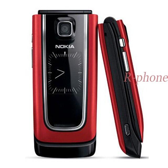 Rinnovato 6555 Tastiera Russa Originale 3G Sbloccato Nokia 6555 Telefono Cellulare Rosso colori & garanzia di Un anno