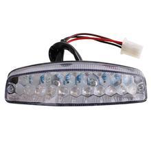 Светодиодные задние фонари освещения мотоцикла Мото хвост тормозной сигнал индикатор для квадроцикл Quad картинг универсальный кафе гонщик