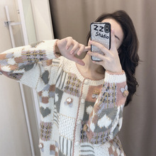 Sweater Woman 2019 Fall New Korean Version of Girls Knitted Cardigan Short Sweater Coat Tide Cardigans O-Neck Sweater Women new sweater women cardigan knitted sweater coat long sleeve female casual o neck woman cardigans tops pull femme