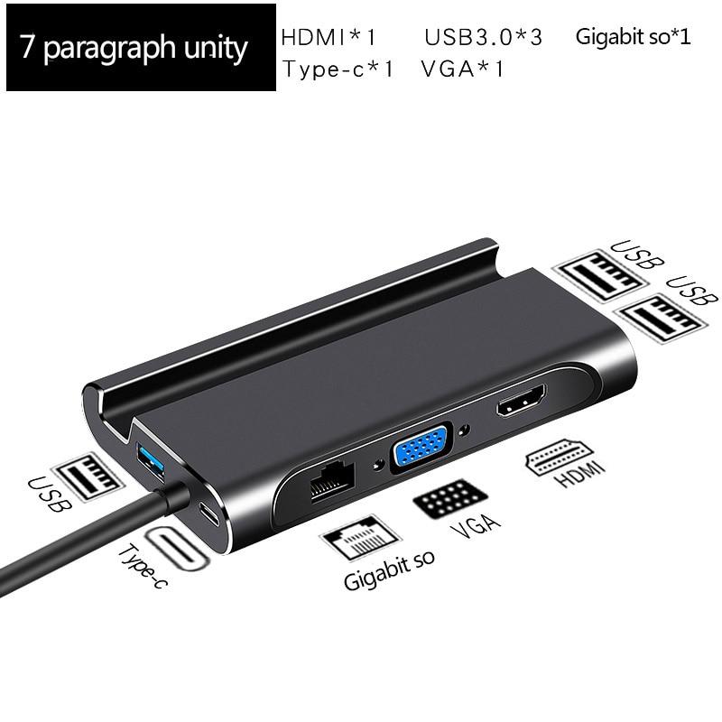 Type C to HDMI Hub Adapter USB hub Docking Station USB 3 0 HDMI VGA RJ45