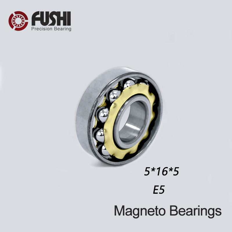 E5 Magneto <font><b>Bearing</b></font> <font><b>5*16*5</b></font> mm ( 1 PC ) Angular Contact Separate Permanent Motor Ball <font><b>Bearings</b></font> EN5 FB5 image