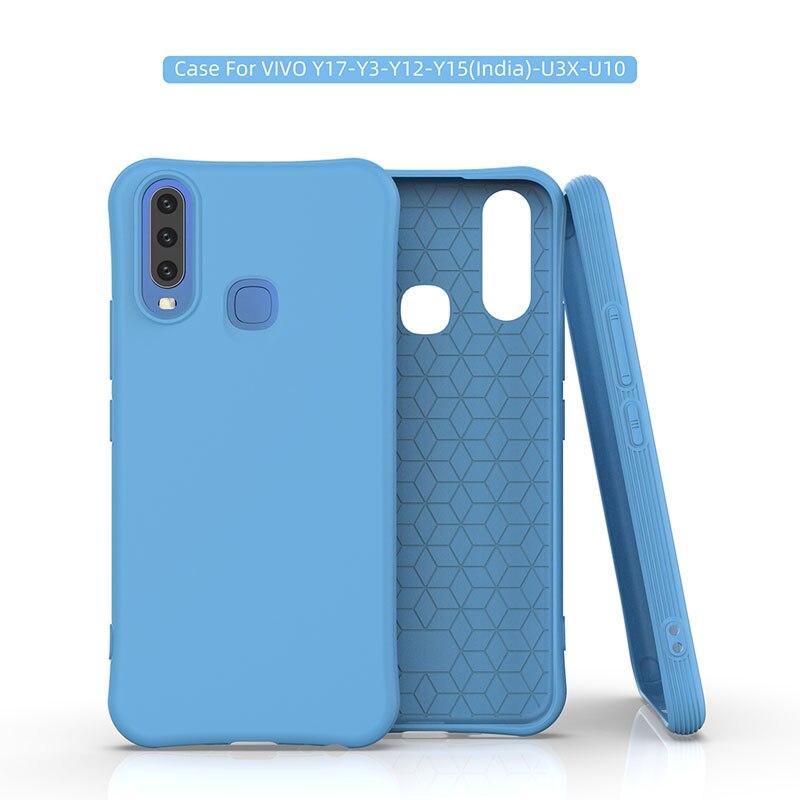 Silicon Plain Case For Vivo IQOO NEO Pro Y17 Y3 Y12 U3X U10 Y7S V17 Neo Z1X S1 Y19 Y5S Case Anti-Fall Soft Back Shell Cover Capa