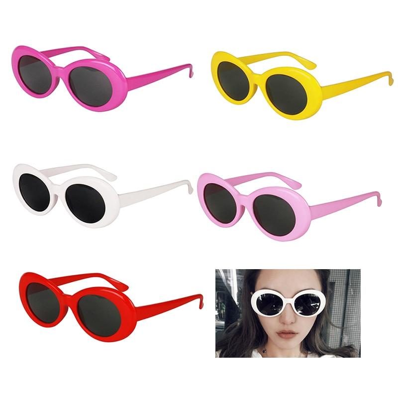 Kurt Cobain Sunglasses Clout Rapper Goggle Unisex Fancy Dress Party Oval Glasses