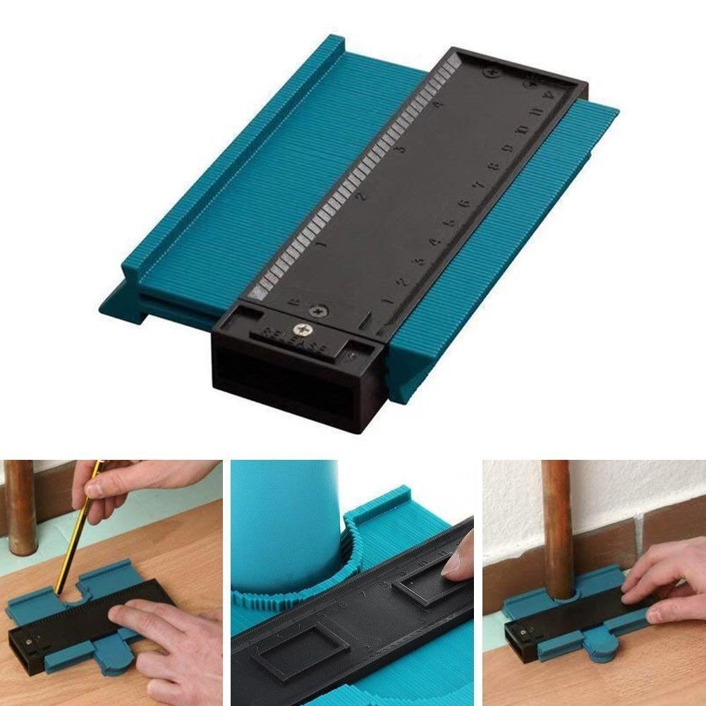 5inch Contour Profile Gauge Tiling Laminate Tiles Edge Contour Ruler Blue/Red Wood Gauge Measure ABS Duplicator Color Shapi M5P3