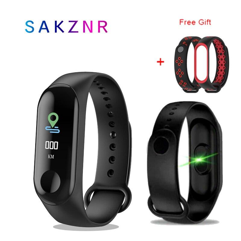 M3 Bracelet intelligent couleur écran tactile Fitness Tracker pression artérielle moniteur de fréquence cardiaque bande intelligente Fitness Tracker Sport montre