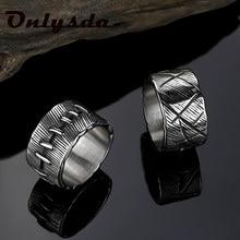 Onlysda antigo vintage 316l aço inoxidável anel frankenstein carne anel anéis de banda de casamento masculino biker jóias presente osr704