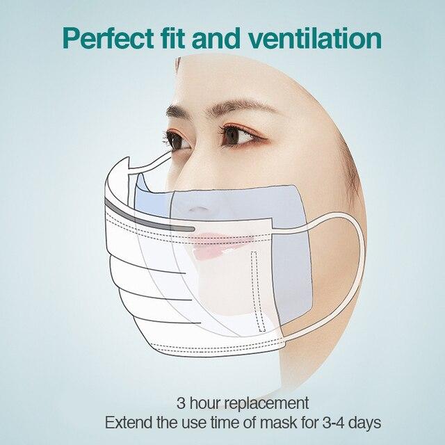 500pcs Disposable mask pad Mask Respirator Filter Pad Disposable Mouth Mask Filter Smog Prevention masks face Masks(no mask) 3