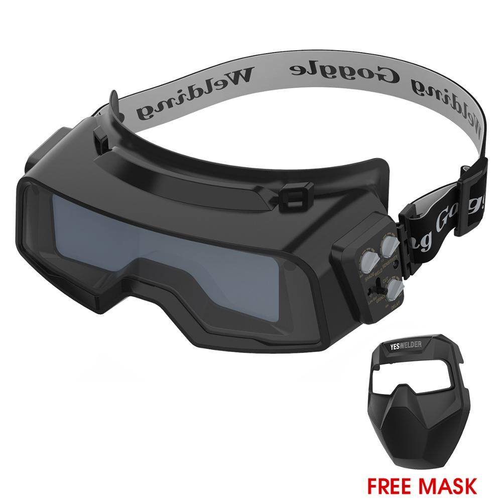 YESWELDER True Color Welding Goggles, Auto Darkening Welding Glasses For TIG MIG MMA Plasma Weld Mask LYG-R100A