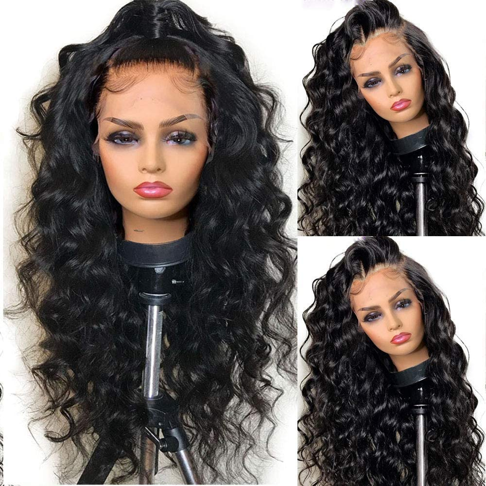 SimBeauty Lace Front <font><b>Wigs</b></font> Curly Human <font><b>Hair</b></font> Loose Wave Full Lace <font><b>Wigs</b></font> <font><b>10A</b></font> Virgin Human <font><b>Hair</b></font> With Baby <font><b>Hair</b></font> PrePlucked 360 Frontal image