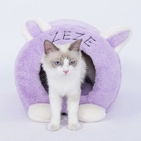 Pet Cats Bed Rabbit Shape Puppy Small Cat Soft Warm Nest Kennel Sleeping Bag Mat Pad For Pets Small House Dog Household Supplies