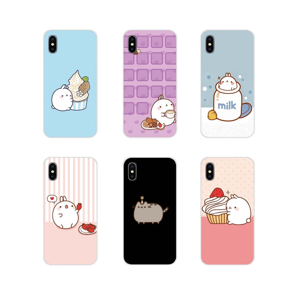 Kawaii Molang Cartoon Anime <font><b>dog</b></font> cat TPU Shell Cover For Oneplus 3T 5T 6T <font><b>Nokia</b></font> 2 <font><b>3</b></font> 5 6 8 9 230 3310 2.1 <font><b>3</b></font>.1 5.1 7 Plus 2017 2018 image