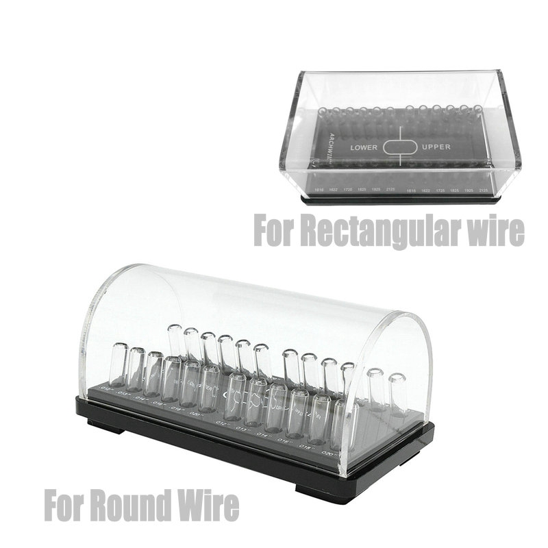 Dental Acrylic Organizer Holder For Orthodontic  Round/Rectangular Arch Wires Case