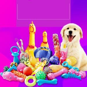 10 peças/set do cão brinquedos para animais de estimação interativos gritando frango cão gato brinquedo atraente cachorro gato filhotes molar mascar brinquedo