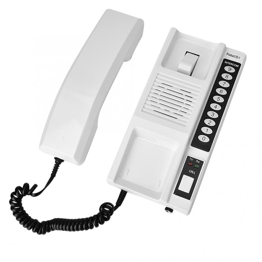 433Mhz Wireless Intercom System Secure Walkie Talkie Handsets Extendable for Warehouse Office Intercom System Telephone Intercom