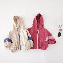 Корейская куртка с капюшоном и длинными рукавами для маленьких мальчиков и девочек, пальто для девочек, пальто для маленьких девочек