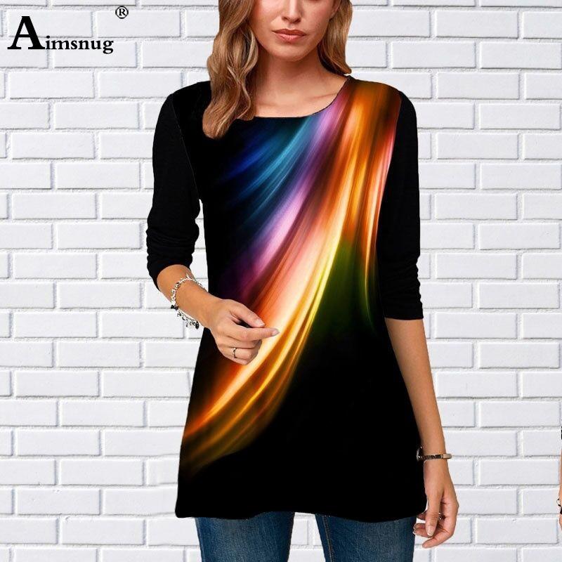 Plus Size 4xl 5xl Women 2020 Spring New Fashion Print Tops Long Sleeve Female T-Shirt Loose Oversized Ladies Tee Shirt Camisa