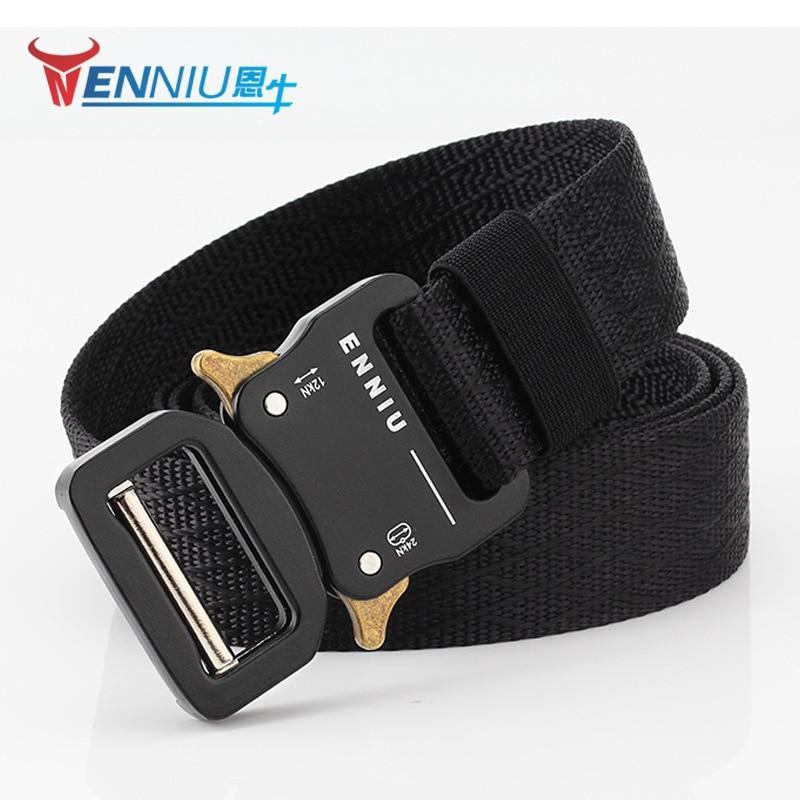 Enniu Cobra Tactical Belt Men's Multi-functional Army Fans Outdoor Waist Belt Special Forces Outdoor Training Nylon Web Belt