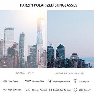 Image 5 - PARZIN 2019 Brand Fashion Big Frame Women Polarized Sunglasses High Quality Vintage Metal Temple Design Sun Glasses