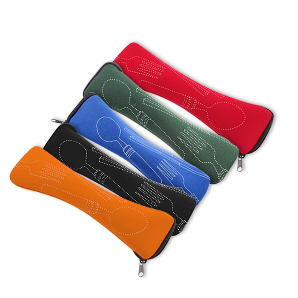Details about  /DURABLE TABLEWARE ZIPPER BAG OUTDOOR TRAVEL CAMPING RECYCLABLE CUTLERY POUCH