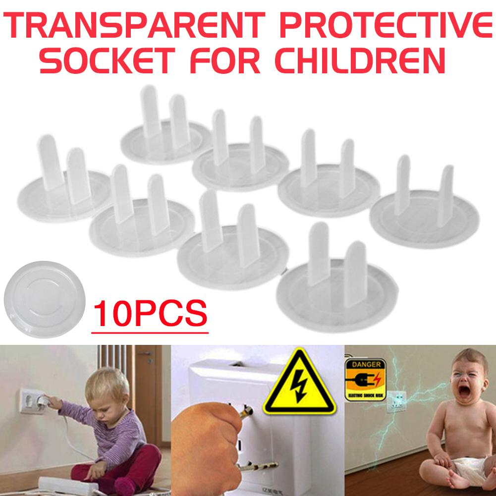 10PCS American Specification Kids Safety Plug Lock Cover Electrical Security Lock Cover Transparent Socket Cover For Children
