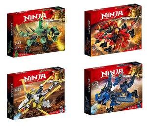 Image 1 - New Ninja Ninjagoingly Dragon Building Block KAI JAY COLE ZANE Lloyd Action Figures Toys for Children Gifts