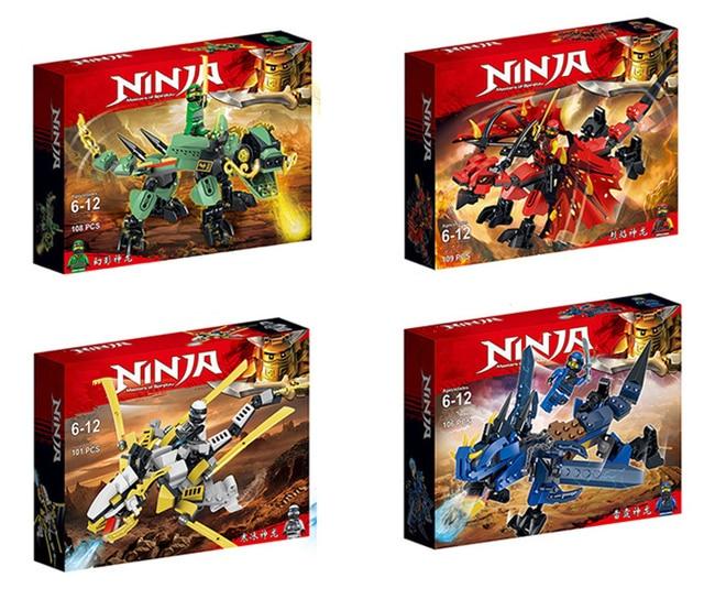New Ninja Ninjagoingly Dragon Building Block KAI JAY COLE ZANE Lloyd Action Figures Toys for Children Gifts