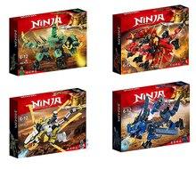 Novo ninja ninjagoingly dragão bloco de construção kai jay cole zane lloyd figuras de ação brinquedos para crianças presentes