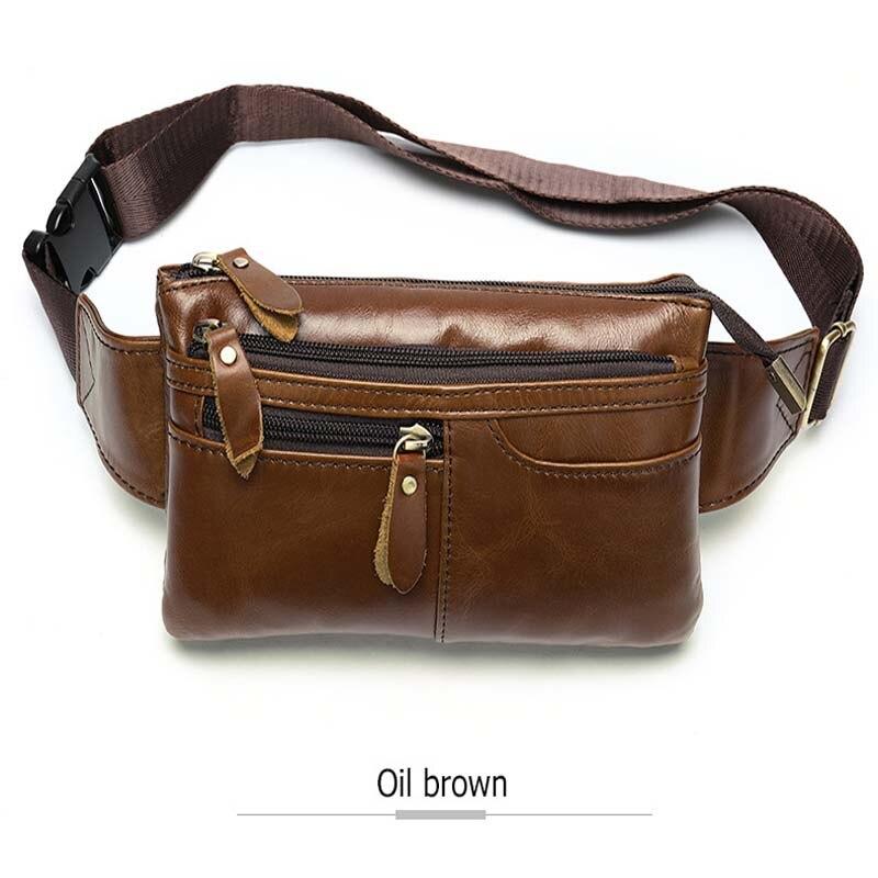 Bandolera para hombre, marrón oscuro, bolso de pecho diario, de alta calidad, de gran capacidad, bolso de hombro de cuero dividido para iPad nuevo