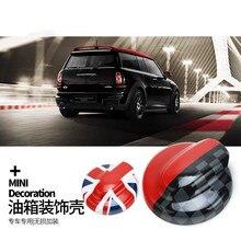Car Fuel Tank Cap Cover Shell Case Housing Sticker For Mini Cooper S One JCW Hatchback Clubman R55 R56 R58 R59 Car Accessories