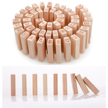 Wooden Early Learning Logging Digital Layer Stacking Small Building Blocks High Creative Jenga Tabletop Game