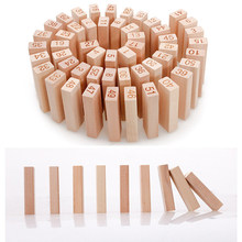 Wooden Early Learning Logging Digital Layer Stacking Small Building Blocks Stacking High Creative Jenga Tabletop Game(China)