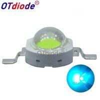 100PCS 3W Cyan Ice Blue Green High Power LED Lamp Led Emitter Light 490 495nm Diode 350 700mA For Decoration|Leuchtperlen|Licht & Beleuchtung -
