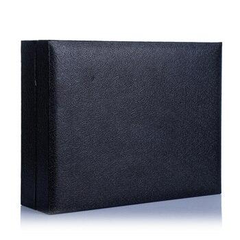 3pcs Box Husband Colleague Valentine's Day Wallet Watch Belt Men Father Black Accessories PU Boyfriend Birthday Gift Set Fashion