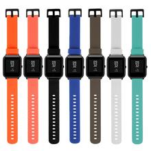 Wristwatch Strap 20mm for Xiaomi Huami Amazfit Bip BIT PACE Lite Sports Bracelet Smart Silicone Watch Band Quick Release