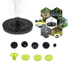 Pływająca fontanna solarna fontanna ogrodowa basen dekoracja stawu Panel słoneczny zasilana pompa wodna ogród daje prezenty dysze