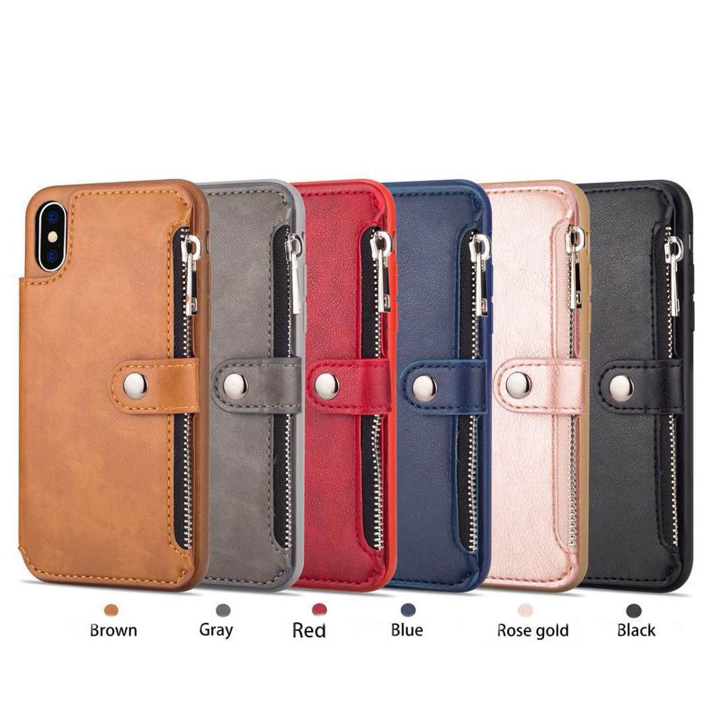 6 colors New design PU leather multi-function phone case card solt phone case for iphone 6 7 8 6 plus 7 plus 8 plus X XS XS max