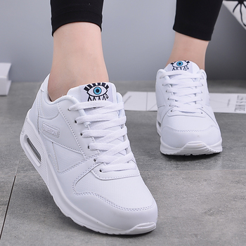 PU Leather Running Shoes Women Men Fashion Air Cushion Damping Sport Shoes Outdoor Training Jogging Lover Sneakers Breathable 1