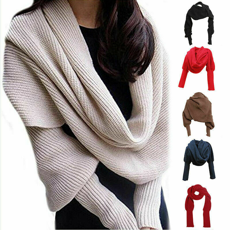 2019 Winter Women Scarf Solid Color Knitted Warm Cashmere Scarves Shawls Female Luxury Scarf Lady Blanket Wraps