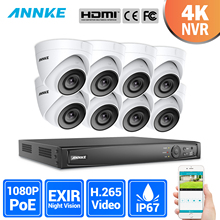 ANNKE 16CH 2MP Ultra FHD POE Network Video Security System 8MP H.265 NVR With 8X 2MP 30m Night Vision Waterproof IP CCTV Camera