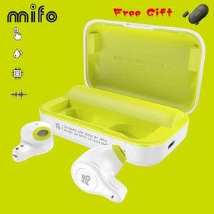 Image 1 - Mifo O2 Touch Twee Mini Bluetooth 5.0 Headsets Echte Draadloze Oordopjes Handsfree Micro Waterdichte Oortelefoon Met Opladen Doos