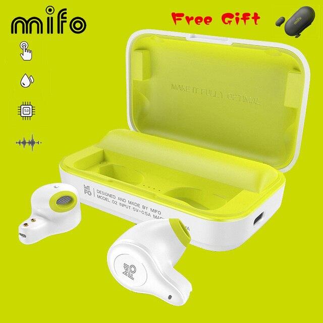 Mifo O2 Touch Twee Mini Bluetooth 5.0 Headsets Echte Draadloze Oordopjes Handsfree Micro Waterdichte Oortelefoon Met Opladen Doos