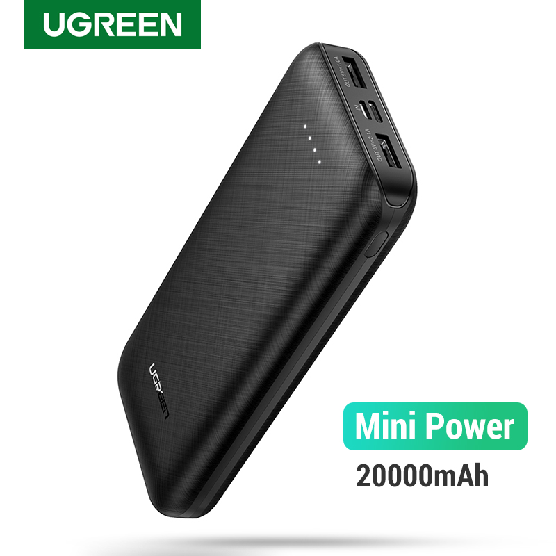 Ugreen Power Bank 20000mAh External Mobile Battery Charger Portable Fast Phone Charger For Samsung S10 IPhone 8 Mini Poverbank