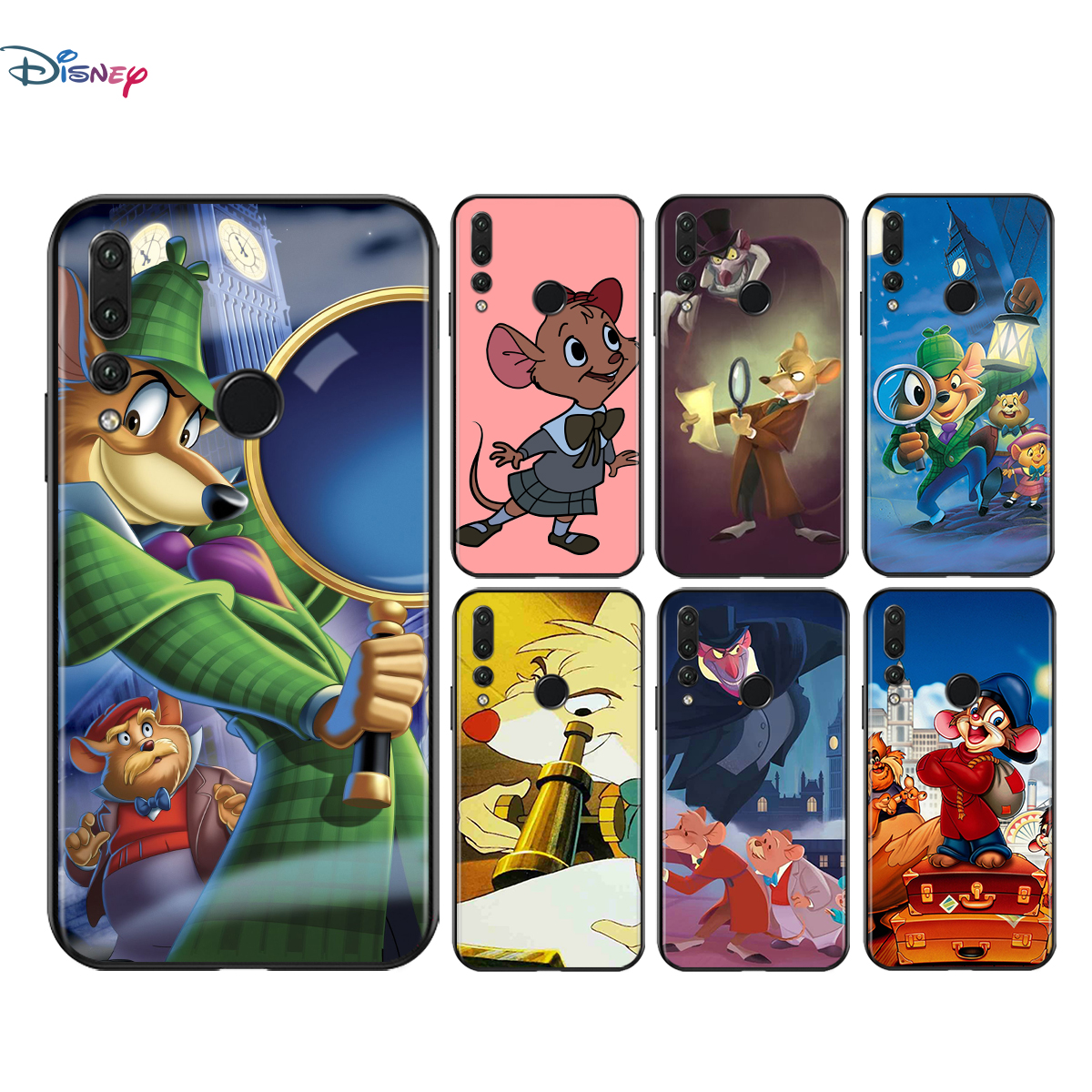 Silicone Cover Great Mouse Detective For Honor V30 30i 10X 30S 9A 9S 9X 30 9C 20 S V20 10i 10 7C Pro Lite Phone Case